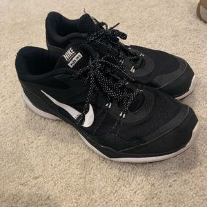 Black and White Nike Athletic Tennis Shoes